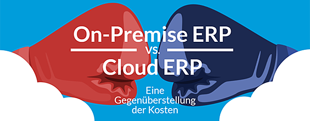 Infografik Kostenüberstellung On-Premise ERP vs. Cloud ERP