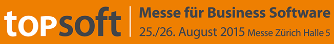 topsoft 2015 Messe für Business Software Banner